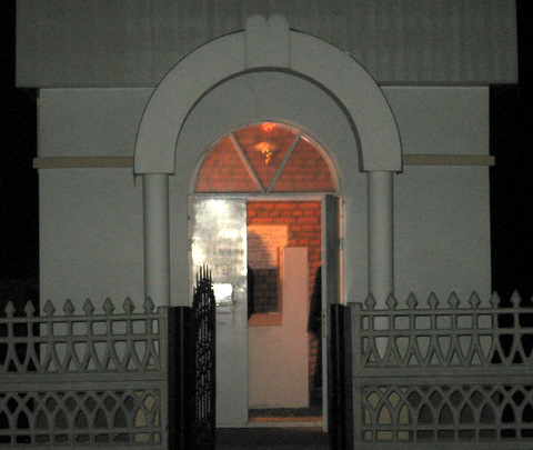 Shepetovka ohel at night