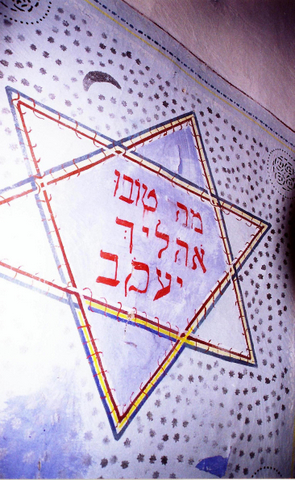 Painted ceiling in Bershad synagogue